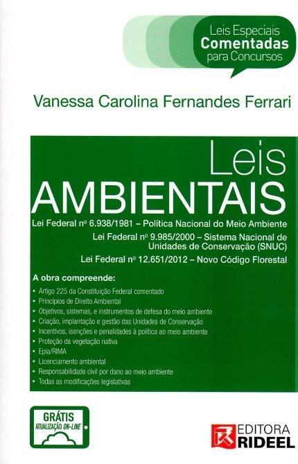 livros de direito Leis Ambientais Leis Especiais Comentadas para concursos