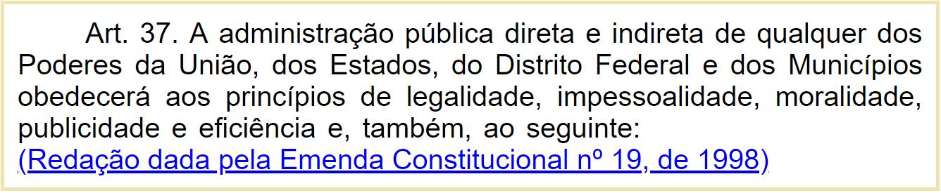 Artigo 37 Constituição Federal