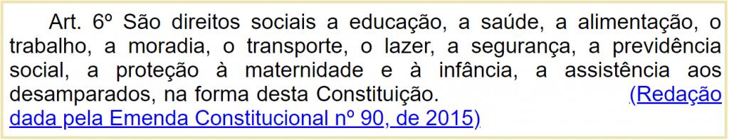 Artigo 6º da Constituição