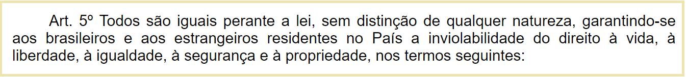 Artigo 5º da Constituição