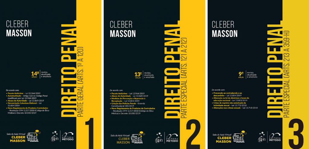 livros de direito Direito Penal Cleber Masson